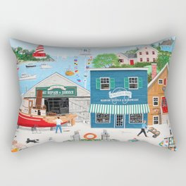 Where the Buoys Are Rectangular Pillow