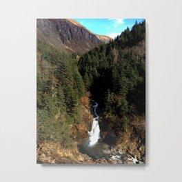 Juneau Waterfall Metal Print