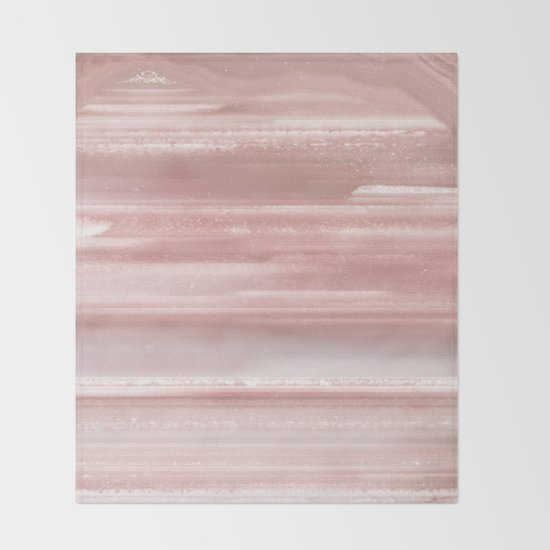 Geode Crystal Rose Gold Pink Throw Blanket By Nature