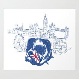 London English British Bulldog Art Print