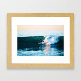 Warm Surf Framed Art Print