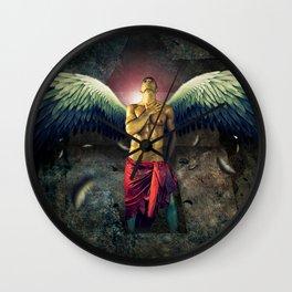 angel nude art  Wall Clock