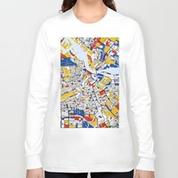 mondrian Long Sleeve T-shirts featuring Amsterdam Mondrian by Mondrian Maps