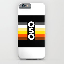 Oso / Bear Flag for LGBT pride or Bear Week iPhone Case