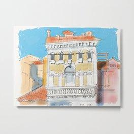 Police station in Venice below The Rialto Metal Print
