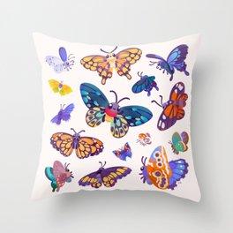 Butterflies Day - bright Throw Pillow