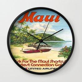 Vintage poster - Maui Wall Clock