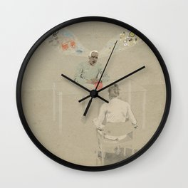 The guy was hard to follow Wall Clock