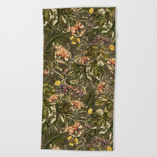 Tropical Camouflage Beach Towel