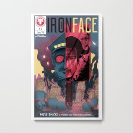 "Iron Face: Part 1 ""He's Back"" Metal Print"