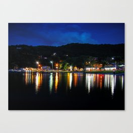Lagoon Lights Canvas Print