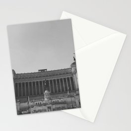 Black & white photo, Victor Emmanuel II Monument, Altar of the Fatherland, Rome photography Stationery Cards
