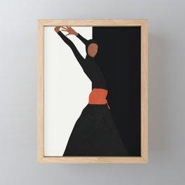 Dancing Model Flow Framed Mini Art Print