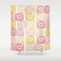 cameras Shower Curtains featuring Cameras by Yasmina Baggili