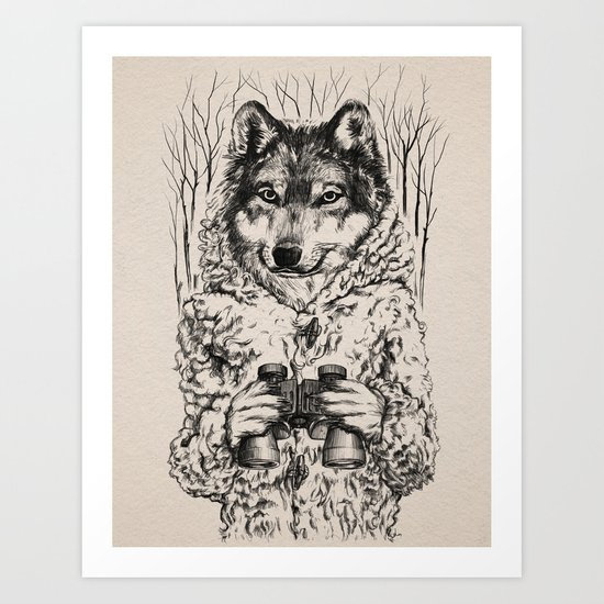 A Wolf in Sheep's Clothing Art Print
