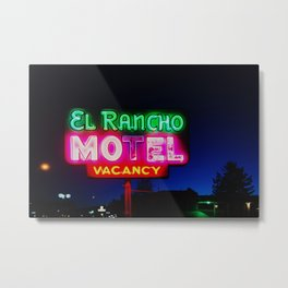 El Rancho Motel ... Metal Print