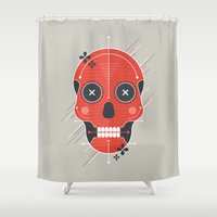 skull Shower Curtains featuring Skull by Tracie Andrews