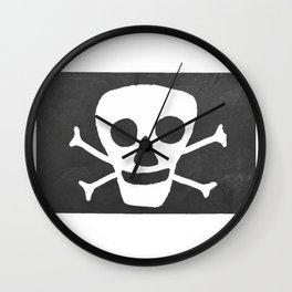 Pirate flag Wall Clock
