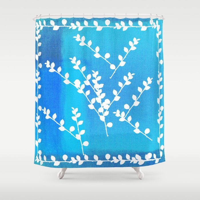 nature leaves decor # Shower Curtain