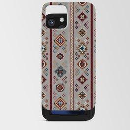 Caucasian Rugs(Stripe) - White iPhone Card Case