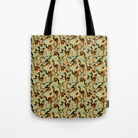 swimming Tote Bags featuring Swimming by Boiling Point Press