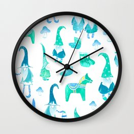 Tomte, Nisse, Swedish gnomes Wall Clock