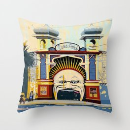 Luna Park in St.Kilda Throw Pillow