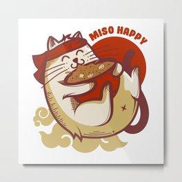 Miso Happy Cat Lover Gifts Metal Print
