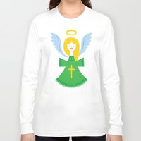 angel Long Sleeve T-shirts featuring Angel by Wharton