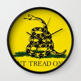 Don't Thread On Me Flag Wall Clock