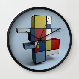 Composition with Red Blue and Yellow Wall Clock