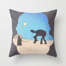 darth Pet-Pet Throw Pillow