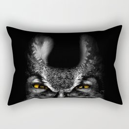 Peeking Owl Rectangular Pillow