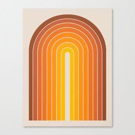 Gradient Arch - Vintage Orange Canvas Print