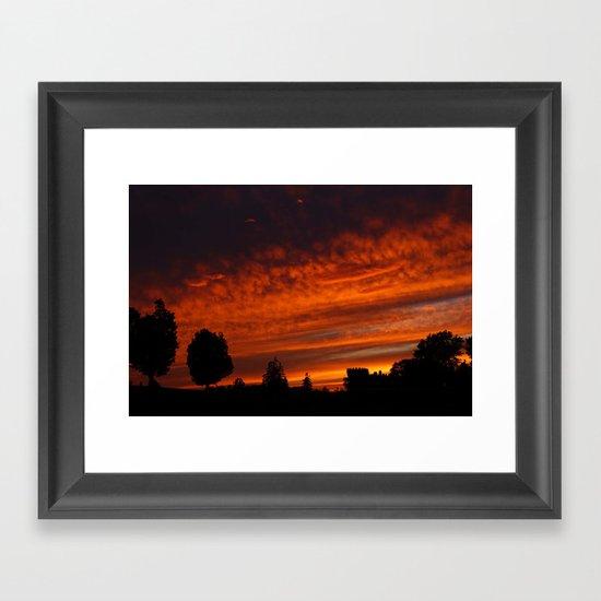 Castle Sunset Framed Art Print