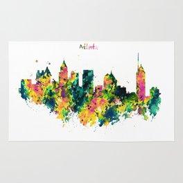 Atlanta Watercolor Skyline Rug