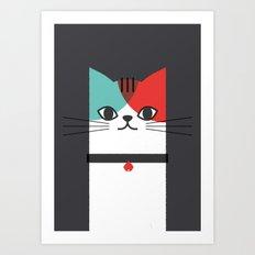 A Cat! Art Print