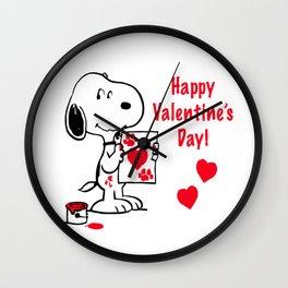 Snoopy Valentine Wall Clock