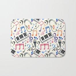 Good Beats - Music Notes & Symbols Bath Mat