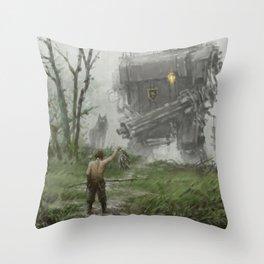 1920 - fisherman Throw Pillow