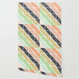 Retro Geometric Triangle Pattern Wallpaper
