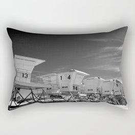 BEACH - California Beach Towers - Monochrome Rectangular Pillow