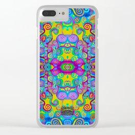 Klimt Tree of Life Mandala Clear iPhone Case