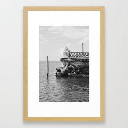 The Barge, B&W Framed Art Print
