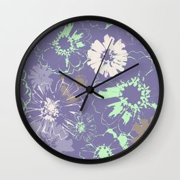 Late Summer Lavender Wall Clock
