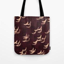 Solar eclipse shadows // burgundy Tote Bag