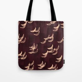 Solar eclipse shadows // burgundy Tote Bag