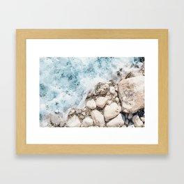 Wave On Framed Art Print