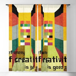 The enemy of creativity Blackout Curtain