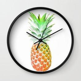 Hawaiian Neon Delicious Pineapple Wall Clock